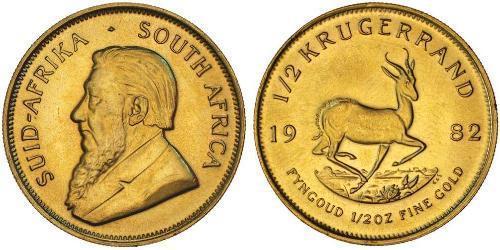 1/2 Krugerrand South Africa Gold