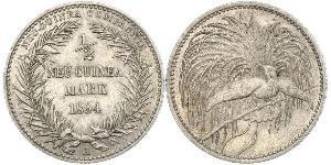 1/2 Mark New Guinea 銀