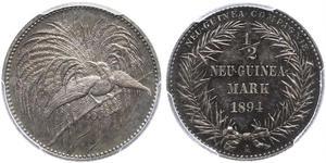 1/2 Mark Nouvelle-Guinée Argent
