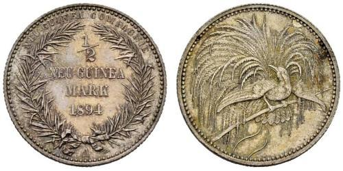 1/2 Mark Nueva Guinea Plata