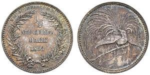 1/2 Mark New Guinea Silver