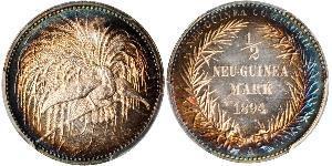 1/2 Mark New Guinea Silver