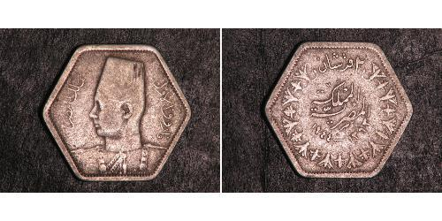 1/2 Millieme Königreich Ägypten (1922 - 1953)  Faruq I, König von Ägypten (1920 - 1965)