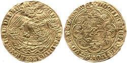 1/2 Noble Kingdom of England (927-1649,1660-1707) Gold Edward III (1312-1377)