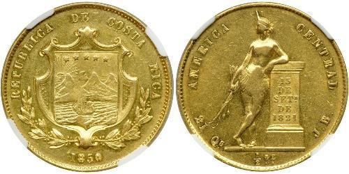 1/2 Onza / 4 Escudo Costa Rica Or