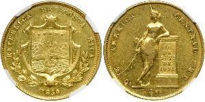 1/2 Onza / 4 Escudo Costa Rica Oro