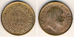 1/2 Paisa British Raj (1858-1947) Bronze Edward VIII (1894-1972)