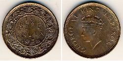 1/2 Paisa British Raj (1858-1947) Bronze George VI (1895-1952)