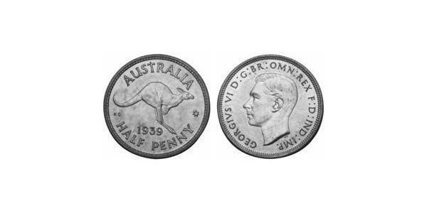 1/2 Penny 澳大利亚 青铜