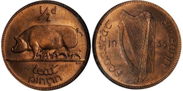 1/2 Penny 爱尔兰共和国 青铜