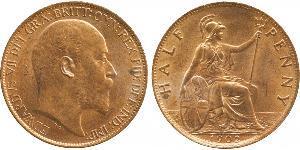1/2 Penny Reino Unido de Gran Bretaña e Irlanda (1801-1922) Bronce Eduardo VII (1841-1910)