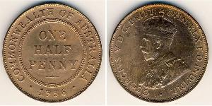 1/2 Penny Australia (1788 - 1939) Bronze George V of the United Kingdom (1865-1936)