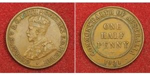 1/2 Penny Australia (1788 - 1939) Bronze George V of the United Kingdom (1865-1936)
