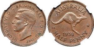 1/2 Penny Australie (1939 - ) Bronze