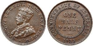 1/2 Penny Australien (1788 - 1939) Bronze George V (1865-1936)