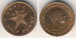 1/2 Penny Ghana Bronze