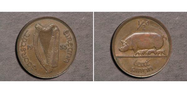 1/2 Penny Irlande (1922 - ) Bronze