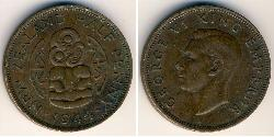 1/2 Penny New Zealand Bronze