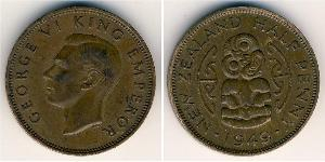 1/2 Penny Nouvelle-Zélande Bronze