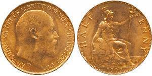 1/2 Penny Royaume-Uni de Grande-Bretagne et d