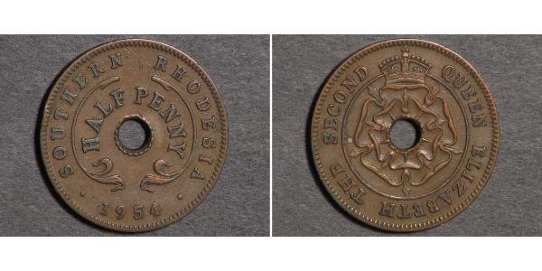1/2 Penny Southern Rhodesia (1923-1980) Bronze Elizabeth II (1926-)