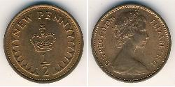 1/2 Penny United Kingdom (1922-) Bronze Elizabeth II (1926-)