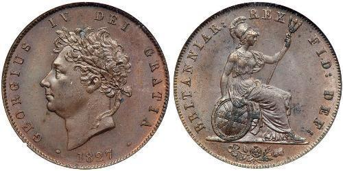 1/2 Penny United Kingdom of Great Britain and Ireland (1801-1922) Bronze George IV (1762-1830)