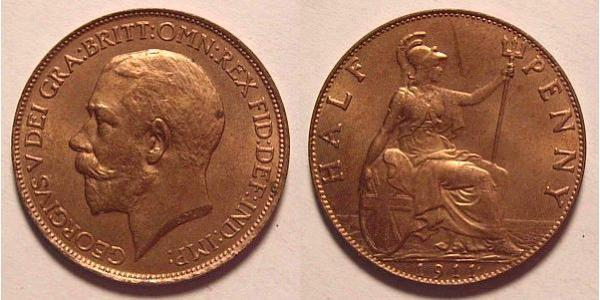 1/2 Penny United Kingdom of Great Britain and Ireland (1801-1922) Bronze George V of the United Kingdom (1865-1936)