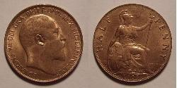 1/2 Penny Vereinigtes Königreich von Großbritannien und Irland (1801-1922) Bronze Eduard VII (1841-1910)