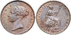 1/2 Penny Vereinigtes Königreich von Großbritannien und Irland (1801-1922) Bronze Victoria (1819 - 1901)