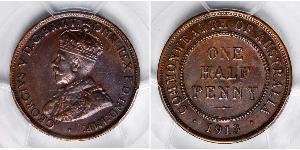 1/2 Penny Australia (1788 - 1939) Bronzo Giorgio V (1865-1936)