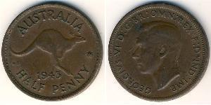 1/2 Penny Australia (1939 - ) Bronzo