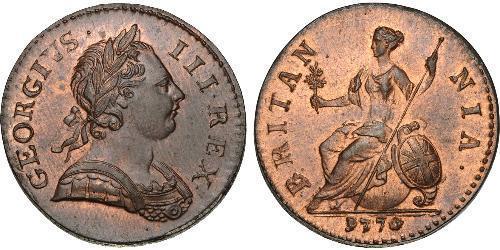 1/2 Penny Regno Unito di Gran Bretagna (1707-1801) Bronzo Giorgio III (1738-1820)