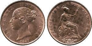 1/2 Penny Regno Unito di Gran Bretagna e Irlanda (1801-1922) Bronzo Vittoria (1819 - 1901)