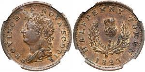 1/2 Penny Canada Copper George IV (1762-1830)