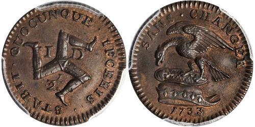 1/2 Penny Isle of Man Copper