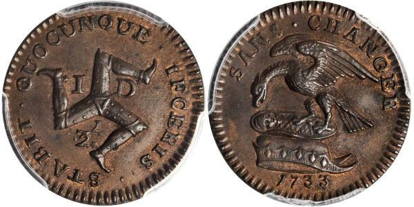 1/2 Penny Isle of Man Copper