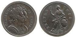1/2 Penny Kingdom of England (927-1649,1660-1707) Copper William III (1650-1702)