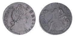 1/2 Penny Kingdom of England (927-1649,1660-1707) Copper William III (1650-1702)