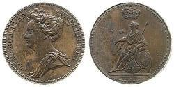 1/2 Penny Kingdom of Great Britain (1707-1801) Copper Anne, Queen of Great Britain (1665-1714)