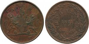 1/2 Penny Saint Helena (1981 - ) Copper