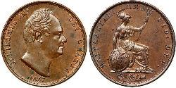 1/2 Penny United Kingdom of Great Britain and Ireland (1801-1922) Copper William IV (1765-1837)