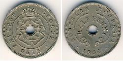 1/2 Penny Southern Rhodesia (1923-1980) Copper/Nickel