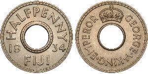 1/2 Penny Fidji Cuivre/Nickel George V (1865-1936)