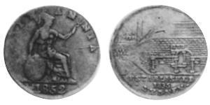 1/2 Penny Australien (1788 - 1939) Kupfer