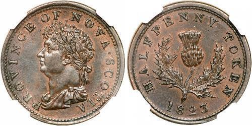 1/2 Penny Kanada Kupfer Georg IV (1762-1830)