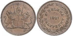 1/2 Penny St. Helena (1981 - ) Kupfer