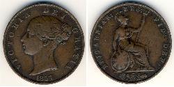 1/2 Penny Vereinigtes Königreich Kupfer