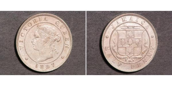 1/2 Penny Jamaica (1962 - ) Níquel/Cobre Victoria (1819 - 1901)