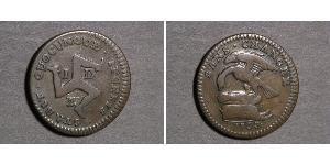 1/2 Penny Isola di Man Rame